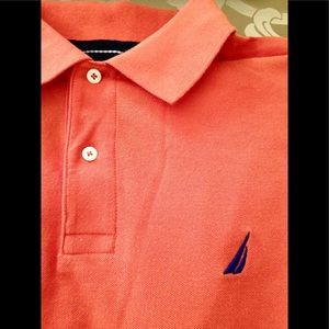 NAUTICA  Men's Orange Polo Shirt